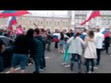 Празднование в центре Вологды