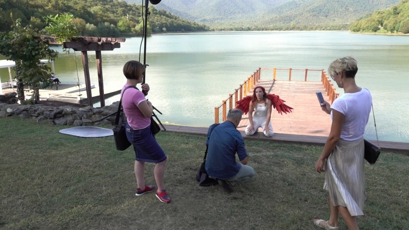 Backstage окрыляющей фотосессии в Грузии