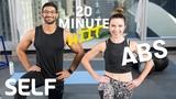 SELF - HIIT Abs Focused Bodyweight Workout No Equipment | Интервальная кардио-тренировка с акцентом на пресс без инвентаря