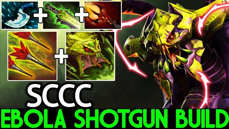 SCCC [Venomancer] Ebola Shotgun Build Cancer Gameplay 7.20 Dota 2