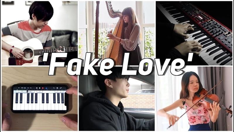 Who Played It Better: Fake Love (방탄소년단) (Car, Piano, Harp, iPiano, Guitar, Violin)