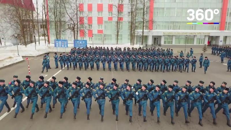 Курсанты Академии гражданской защиты начали подготовку к параду Победы