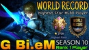 NEW WORLD RECORD Highest Mythic 2700 Star - Top 1 Player by G - Mobile Legends