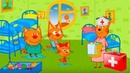 Три Кота Игры в Доктора 2 Поможем Вылечить Котиков мультик для детей про животных