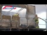Загорание строительного вагончика