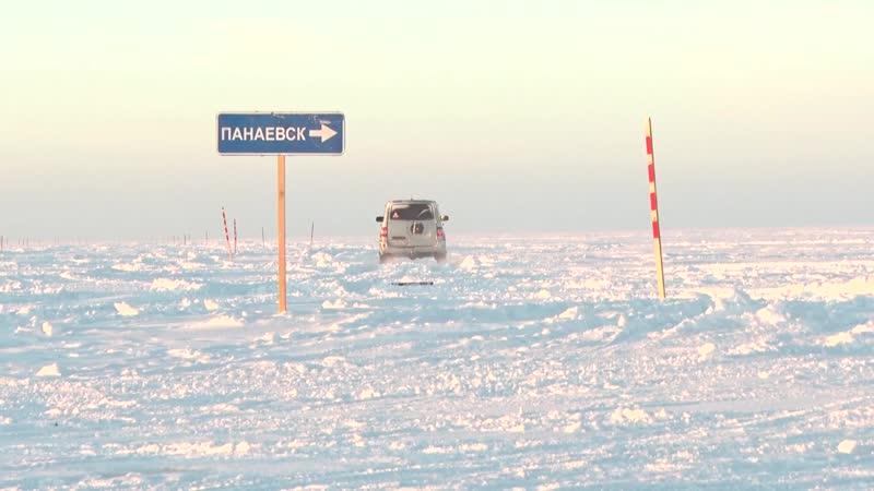 Движение по автозимникам Ямала возобновляется после метели.