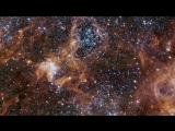 Panning across the rich region around the Tarantula Nebula in the Large Magellanic Cloud