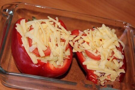 Готовим запеченный фаршированный перец с сыром