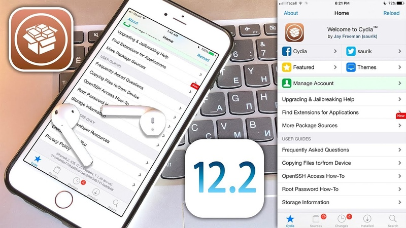 IOS 12 Jailbreak 12.1.4 - 12.2 iOS NEW JB ToolKit with Cydia Installer - PandoraLAB 12