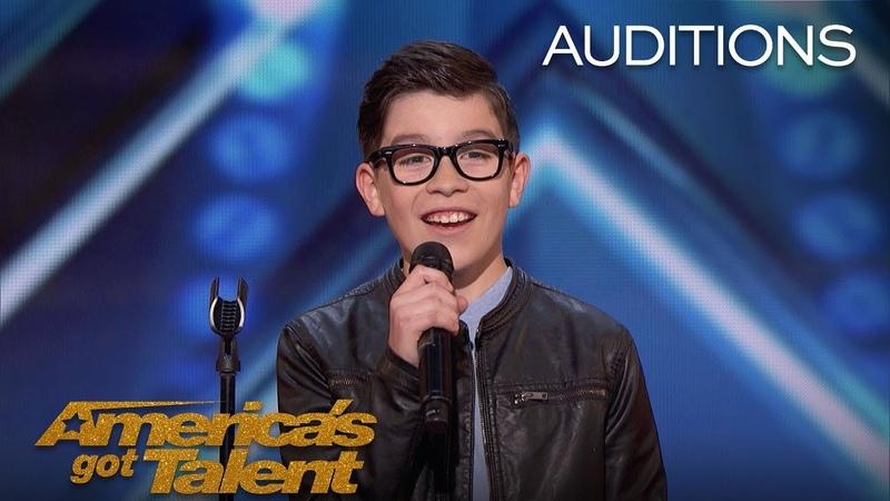 Angel Garcia 12 Year Old Sings Spanish Hit 'El Triste' America's Got Talent 2018