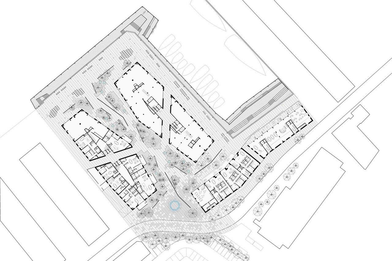 Новый жилой квартал в Копенгагене COBE Architects совместно с Vilhelm Lauritzen Architects завершили работу над проектом жилого квартала Krøyers Plads в Копенгагене, Дания.
