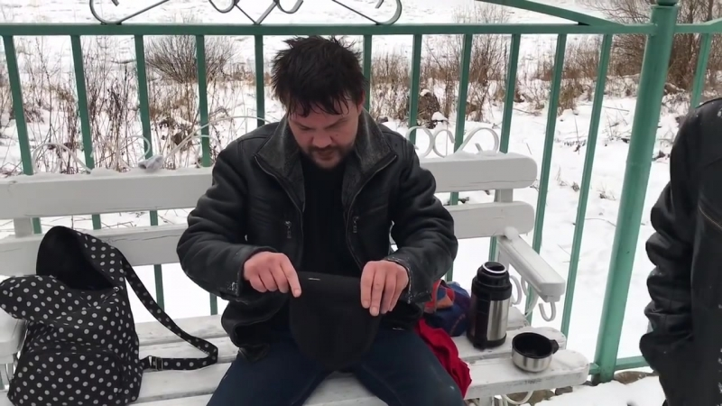 Саша Белый ВЛОГ Купание зимой в минус 7