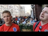 England Fans Embrace Friendly Moscow - Russia 2018