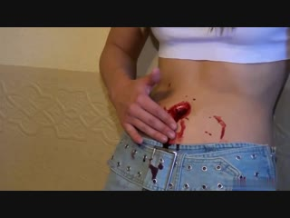 Thot gets shot in her right in her deep belly button (preview) ( 720 x 1280 ).mp4