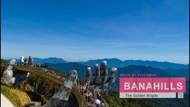 Beautiful Viet Nam | The Golden Bridge - Ba Na Hills - Da Nang | Flycam 4k