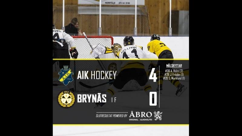 Highlights AIK Brynäs 18 08 2018 Contigahallen