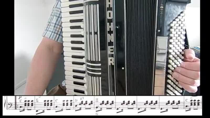 Немец учит играть танго на аккордеоне