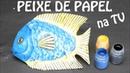 Como fazer esculturas de papel peixe Programa de TV Olga Bongiovanni Rede TV
