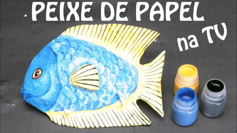 Como fazer esculturas de papel peixe - Programa de TV Olga Bongiovanni - Rede TV