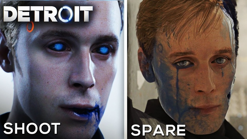 Shoot Simon vs Spare Simon (Good and Bad Consequences) - DETROIT BECOME HUMAN