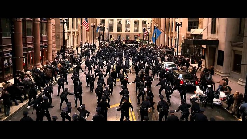 The Dark Knight - Police Parade Scene