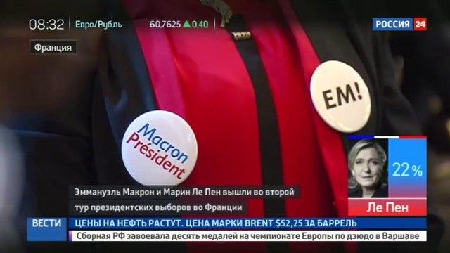 Новости на «Россия 24» • Макрон и Марин Ле Пен вышли во второй тур чего ждать французам
