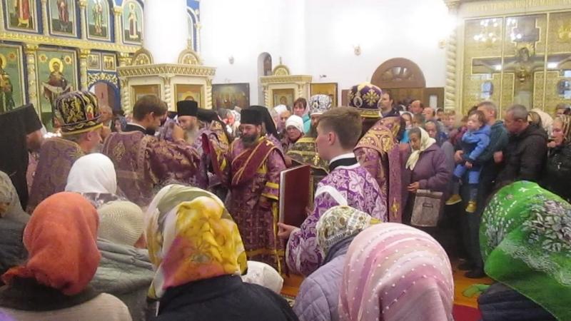 Диаконская хиротония. Начало праздничной литургии.