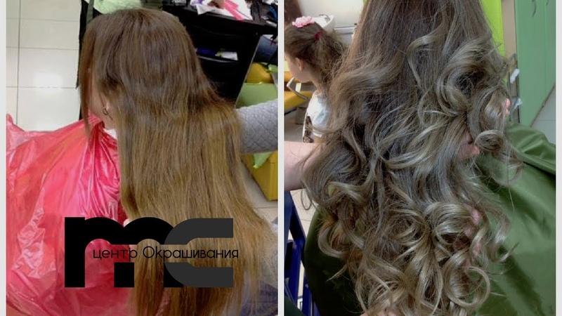Шатуш на русые волосы Окрашивание волос на русые волосы Shatushhair tutorial