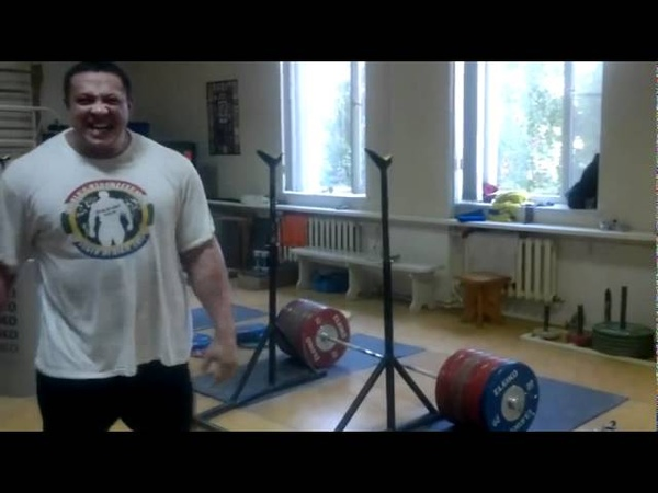 Mikhail Koklyaev playing wiht 310 KG
