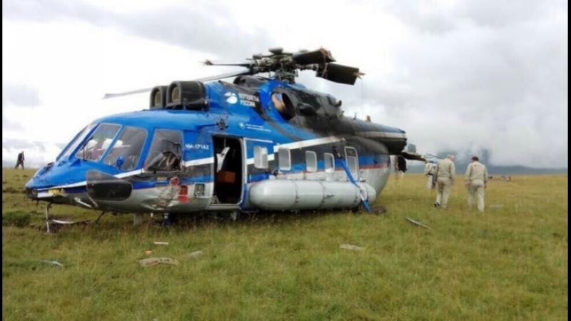 Авария вертолета Ми 171А2 во время испытаний в Приэльбрусье попала на видео