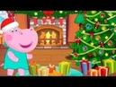 Пепа Гиппо Рождество 4 серия. Имбирное печенье Мультик игра Christmas Cartoon Hippo