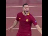 Эмоции Маноласа после забитого гола! Рома - Барселона 10.04.2018