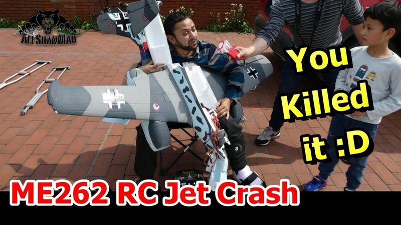 RIP RC Messerschmitt Me 262 Schwalbe Epic RC Jet Crash