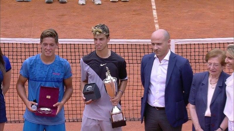 (16)Adrian Andreev vs. (1)Sebastian Baez 6-3, 6-3 59th Trofeo Bonfiglio (Final) 27.05.2018.