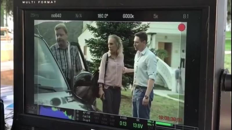 Владимир Жеребцов на съемках фильма Горная болезнь