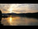 Закат на озере Тургояк
