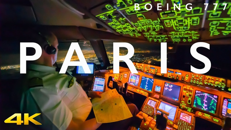 BOEING 777 TAKE OFF FROM PARIS IN 4K