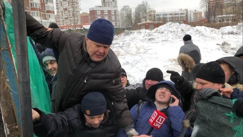 Штурм на Мичуринском 30Б в Москве