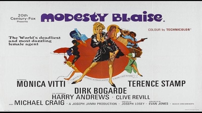 1966 Joseph Losey - Modesty Blaise, - EN sub ITA Monica Vitti, Dirk Bogarde, Scilla Gabel, Terence Stamp