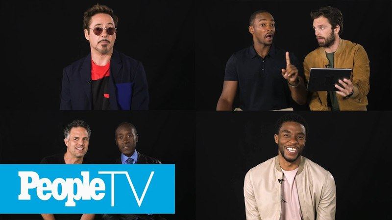 Kids Interview The Avengers Chadwick Boseman, Robert Downey Jr., Sebastian Stan More | PeopleTV