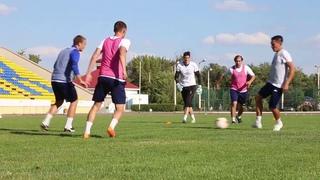 Предигровая тренировка ФК Акжайык перед игрой с Кызыл Жар СК