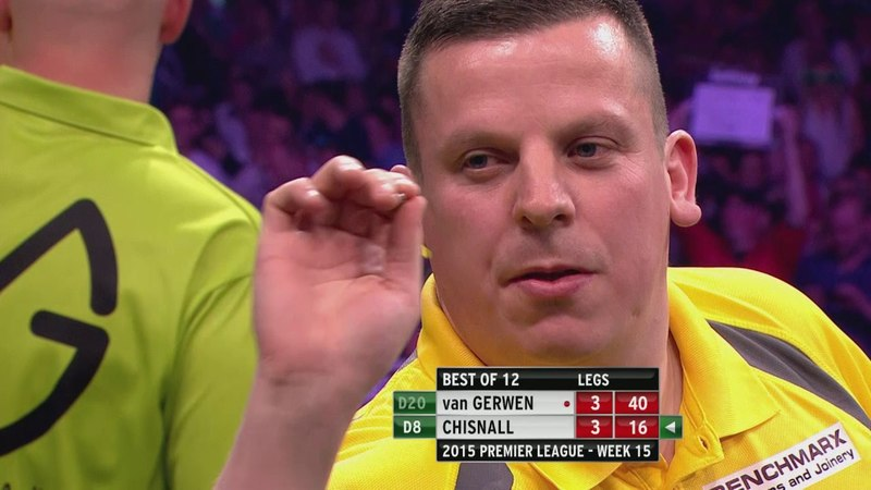 Straight Shootout for Top Spot! van Gerwen v Chisnall - Brighton 2015