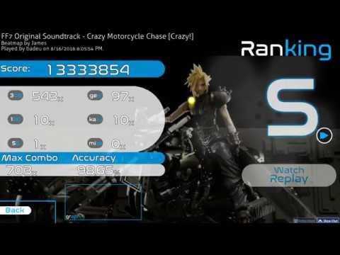 Osu! | badeu | FF7 Original Soundtrack - Crazy Motorcycle Chase [Crazy] DT 98.65% FC 281pp 2 (HD)DT