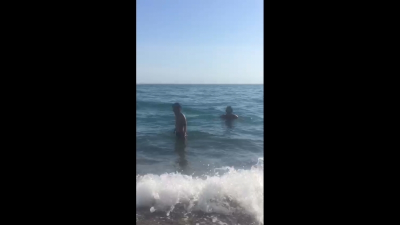 Купание на Рыбзаводе Абхазия 3 мая 2018