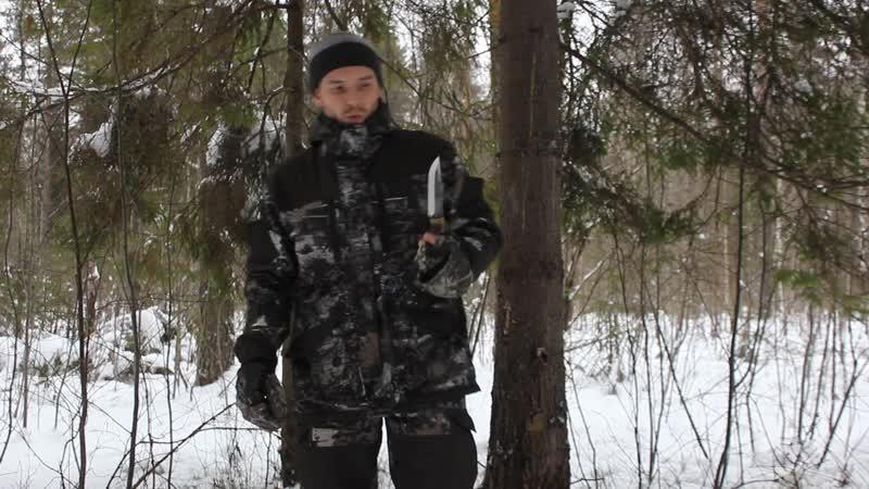 Шалаш в зимнем лесу
