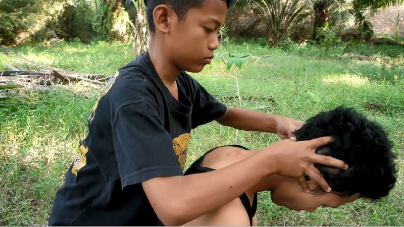 ASMR very intense back head massage - by ridho - no talking