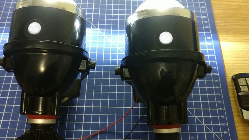 LED линзы 612 с лампами G7S gv-auto.com.ua