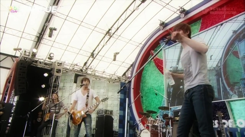 20120828 CNBLUE Mezamashi Live 2012 at United States of Odaiba