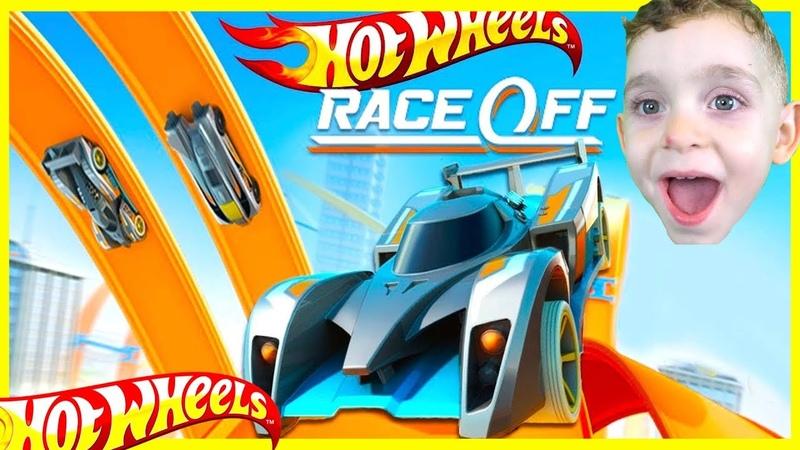 Emir Hot Wheels Race Off Oynuyor! Spor Arabalar 1! (Android Gameplay)