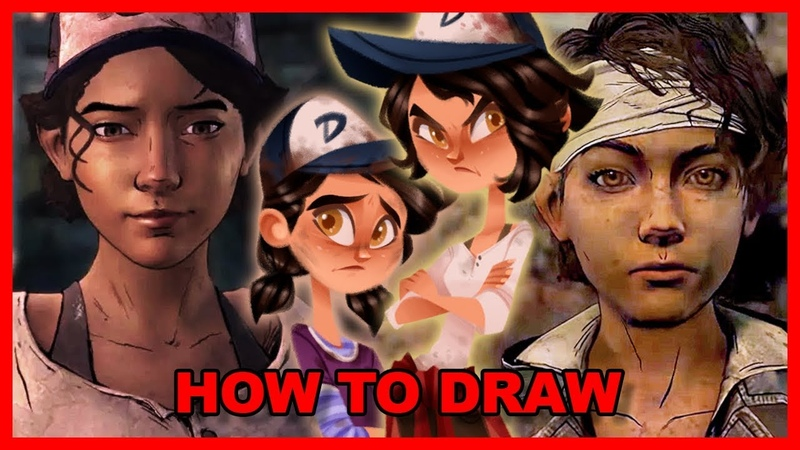 Drawing Clementine from Telltale's The Walking Dead ft. Melissa Hutchison | Heroines
